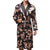 Men Mens Robe Long Sleeves Bathrobe Silk Kimono Print Pajamas Bathrobe Night Dressing Gown  #2