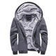 New Casual Hoodies Sweateshirts Men Velvet Zipper Warm Poleron Hombre Fashion Loose Parkas Streetwear Thick Solid Hoodie Men