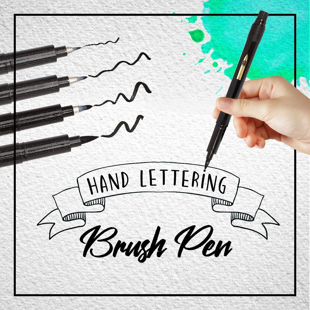 Hand Lettering Calligraphy Pen - 4pcs