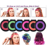 Rainbow Hair Chalk ( 6 Color / Set)