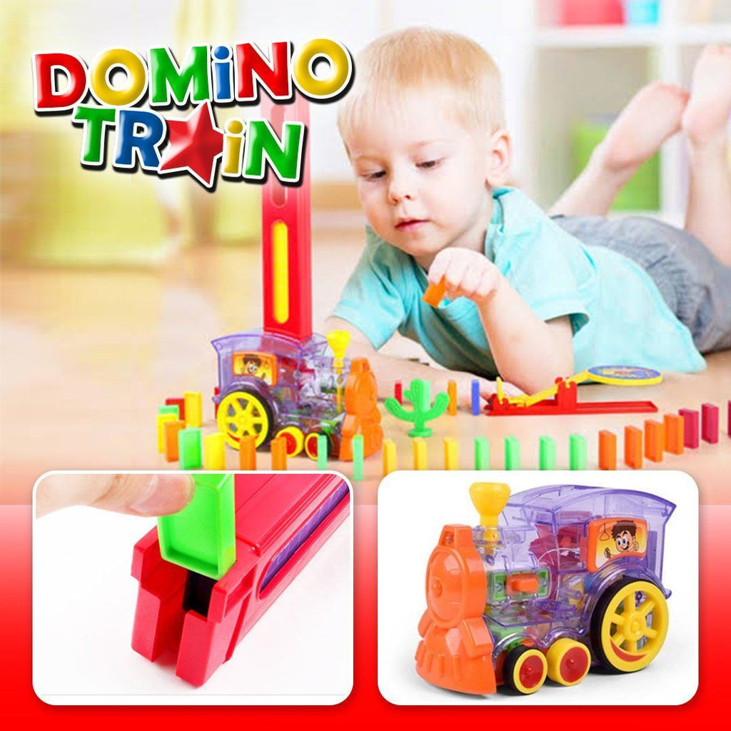 Domino Laying Train Toy Set