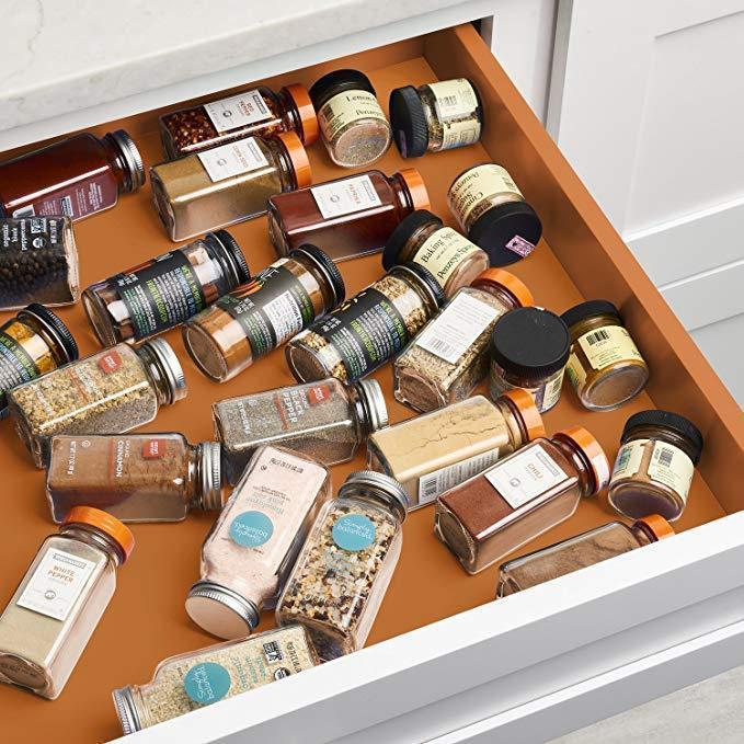 Spice Rack Drawer Organizer - 6 Packs