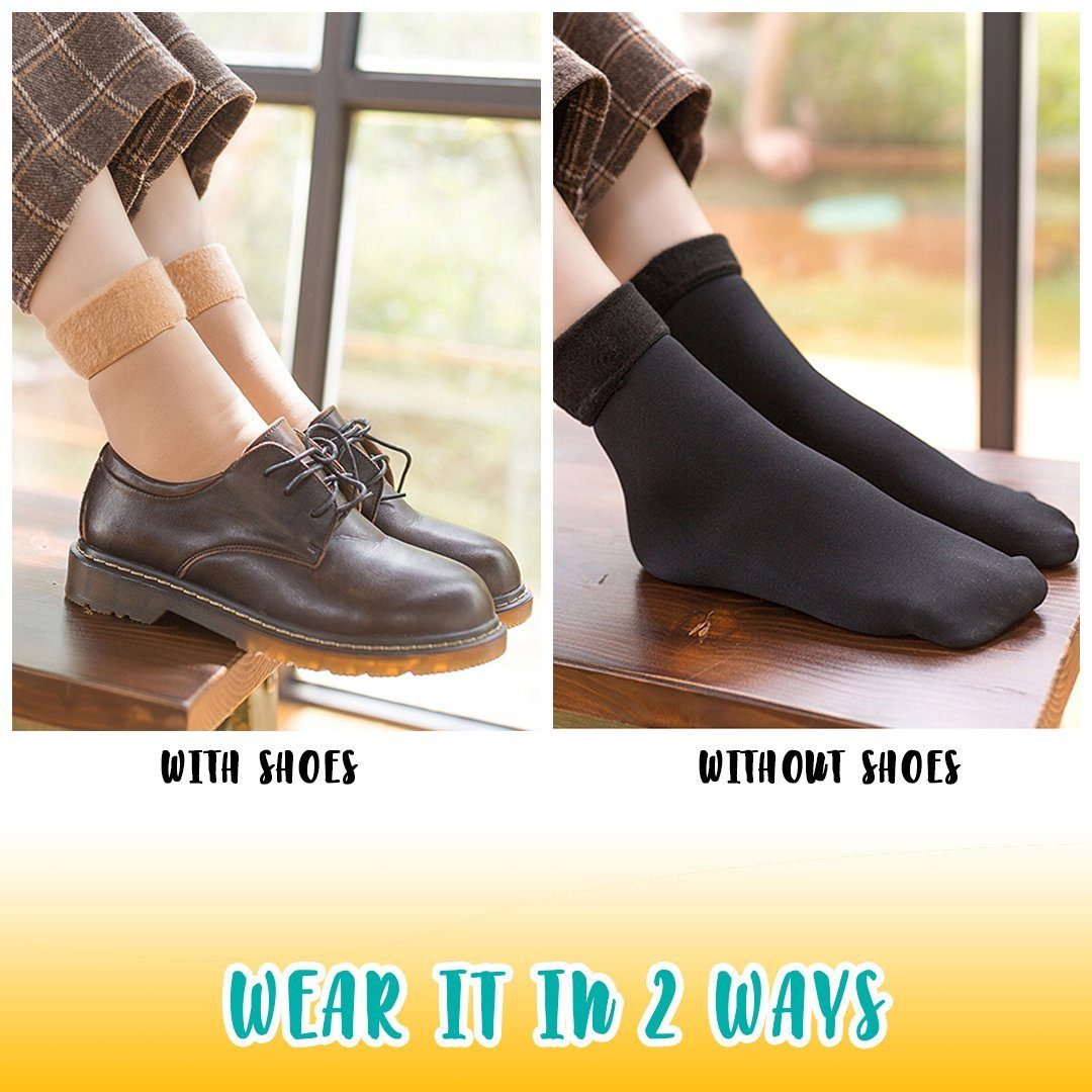 Winter Fleece Lined Quarter Socks