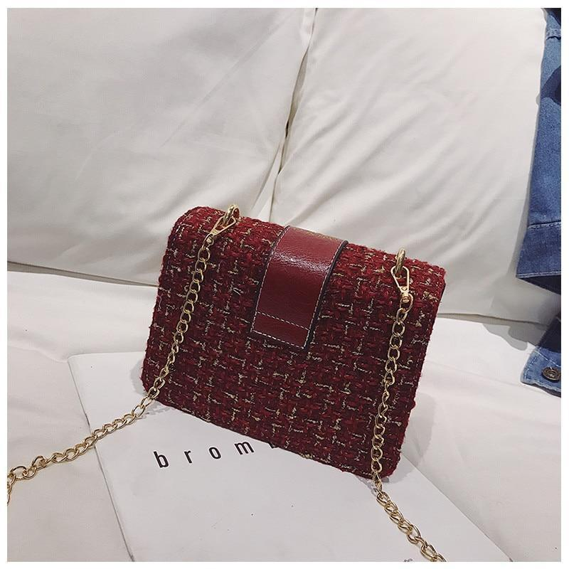 Luxury Wool Fashion Satchel