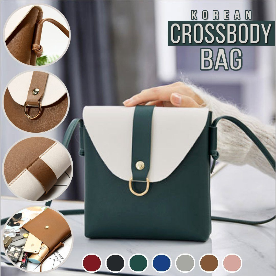 Korean Flap-Over Crossbody Bag