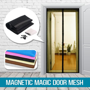 Magnetic Snap-Shut Mesh Door and Customizable Window Screen Set