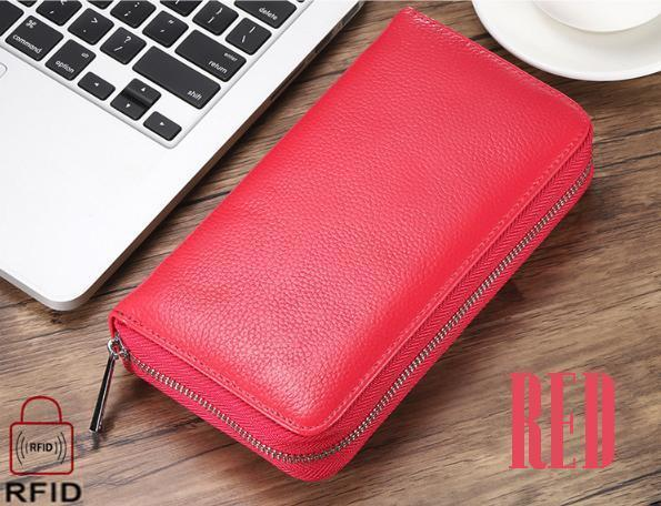 Unisex 36-Slot RFID-Blocking Cell Phone Wallet