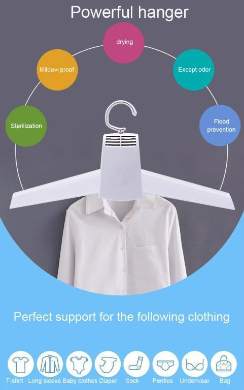 Portable Electric Clothes Drying Hanger