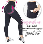 Slimming Workout Compression Leggings with Hidden Pocket