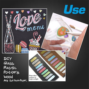 Metallic Brush Pens - 10pcs Set