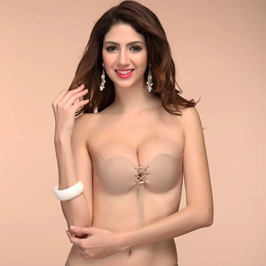 Strapless Invisible Self-Adhesive Push Up Bra