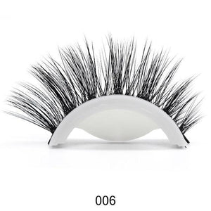 3D Mink Reusable Self-adhesive False Eyelashes Natural Curly Thick No glue Fake Eyelashes Make-up Tools Eye Lashes Extension