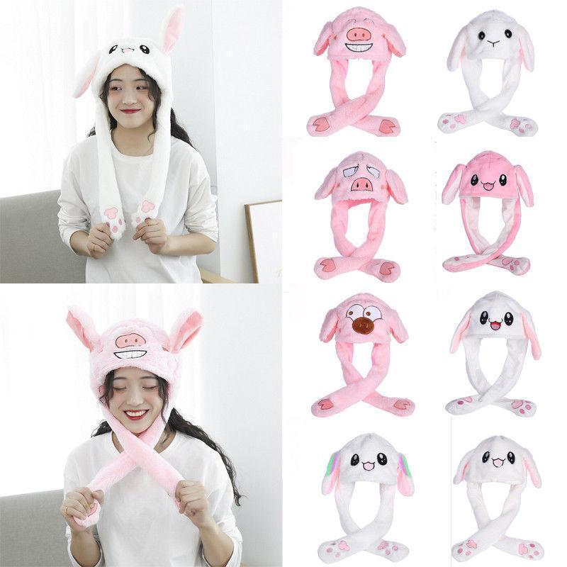Adorable Plush Jumping Ears Bunny Hat