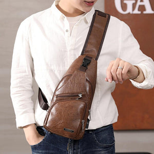 Men's USB Crossbody Chest Bag
