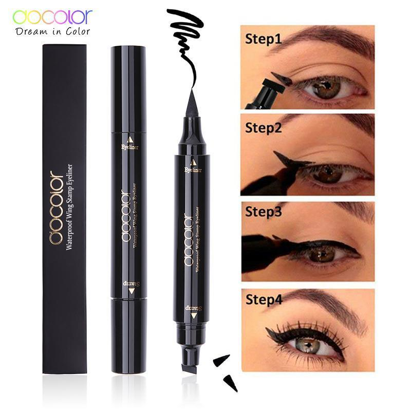 Waterproof Double-Ended Wing Eyeliner Stamp Pen