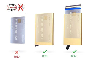 RFID Blocking Wallet Business Card Holder