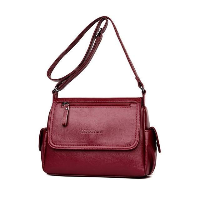 Vintage Soft Leather Crossbody Shoulder Bag