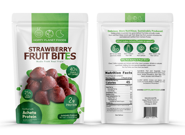 Hoppy Planet Foods Strawberry Fruit Bites Package