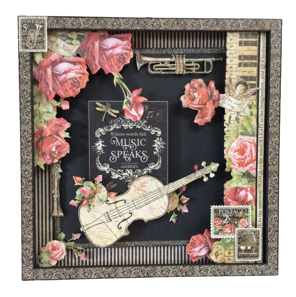 "Love Notes 12 1/4"" x 12 1/4"" Box Frame My Creative Spirit"