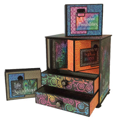 Kaleidoscope Mini Cabinet and Drawer Set Graphic 45