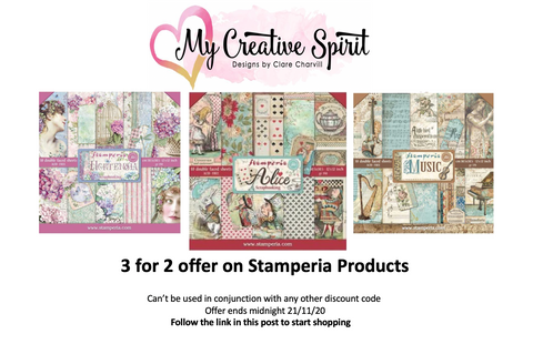 Three for Two on Stamperia Products