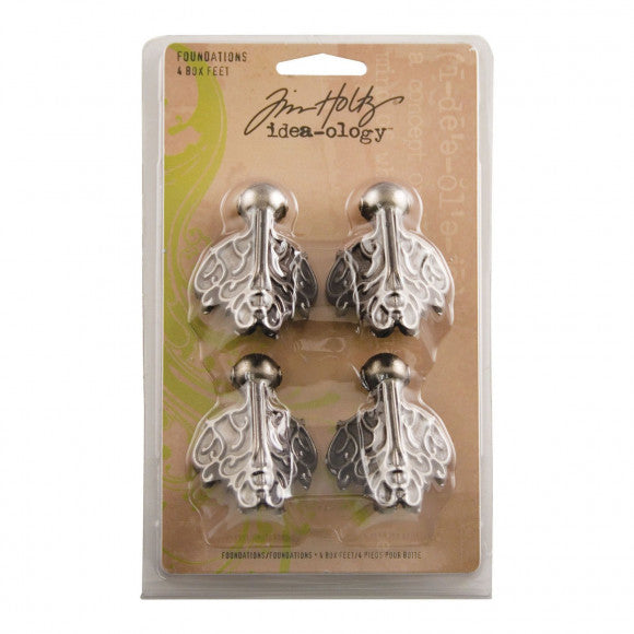 Tim Holtz Idea-ology Box Feet x 4 Antique Nickel
