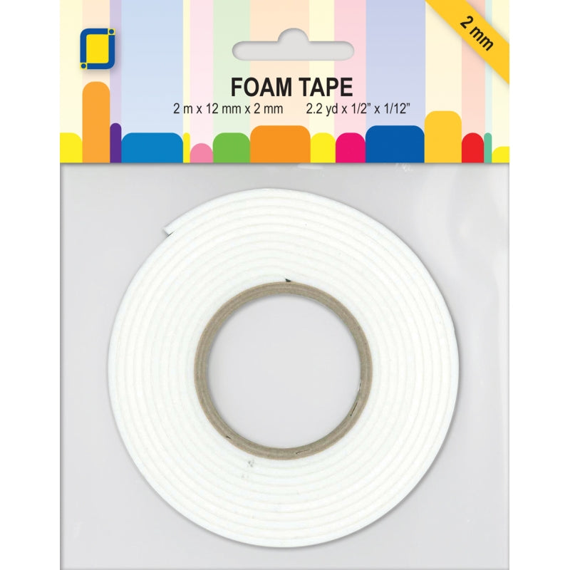 JEJE Foam Tape 2 mtr x 12 mm x 2 mm - White