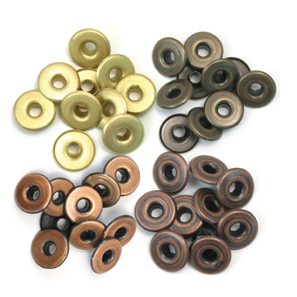 We R Memory Keepers Wide Eyelets - Copper and Warm Metal