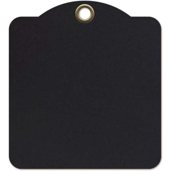 Square Tags Black- Graphic 45