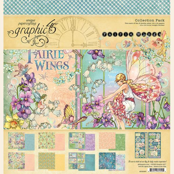 Graphic 45 Fairie Wings 12 x 12 Collection Pack