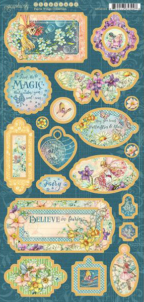 Graphic 45 Fairie Wings Chipboard