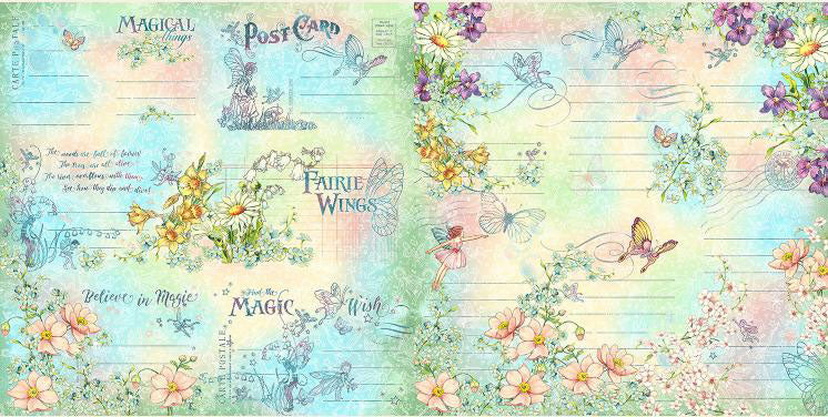 Graphic 45 Fairie Wings Ephemera/Journaling Cards