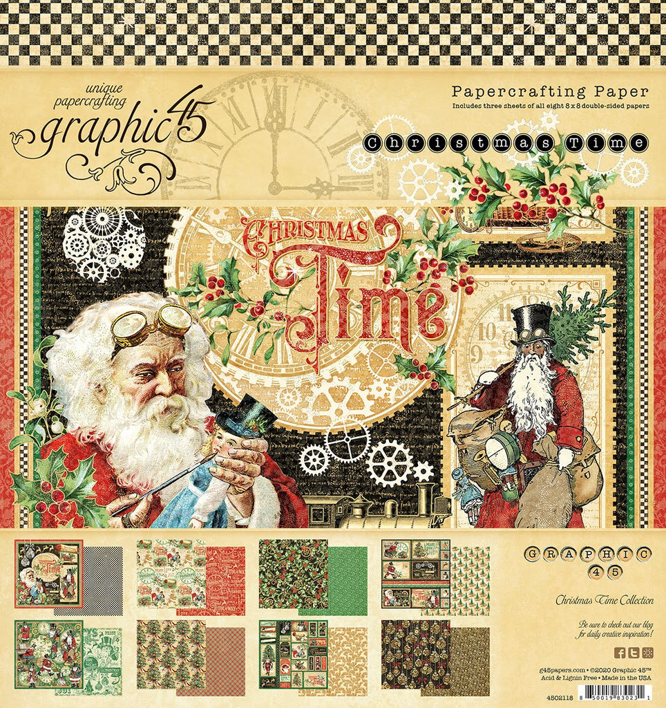 Graphic 45 Christmas Time 8 x 8 pad