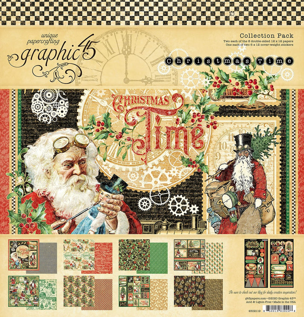 Graphic 45 Christmas Time 12 x 12 Collection Pack