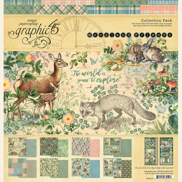 Woodland Friends 8 x 8 pad Graphic45