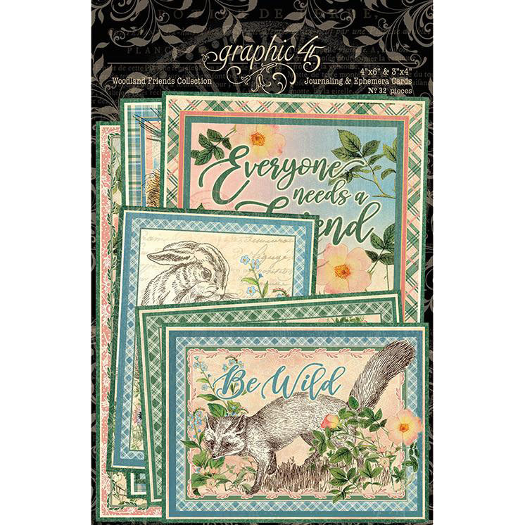 Woodland Friends Ephemera/Journaling Cards Graphic 45