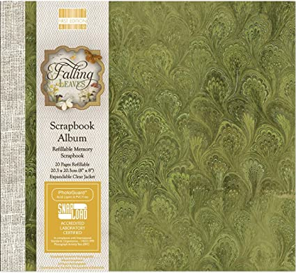 "Amazon.co.uk First Edition Falling Leaves Scrapbook Album 8"" x 8"""
