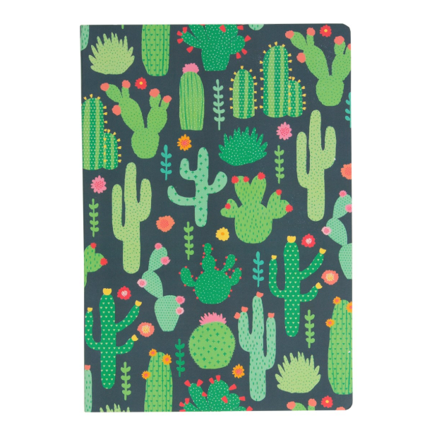 A5 Notebook - Colourful Cactus - Sass and Belle
