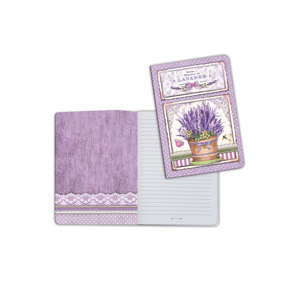 A5 Notebook - Vase of Lavender - Stamperia