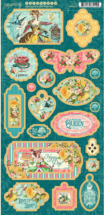 Graphic 45 Ephemera Queen Chipboard