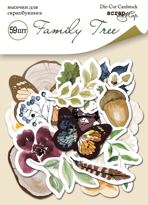 Family Tree Die Cut Pack - Scrapmir