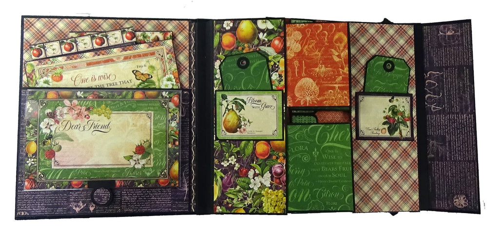 Fruit and Flora Folded Album PDF Tutorial