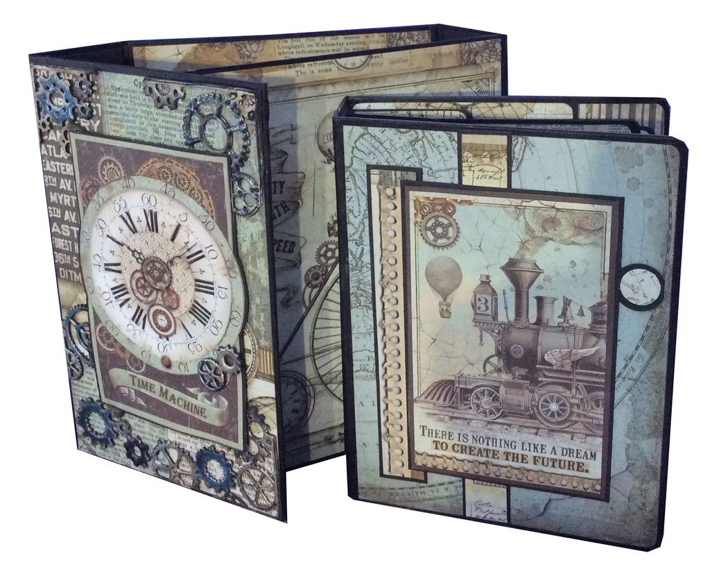 Voyages Fantastiques Book Box and Mini Album PDF Tutorial