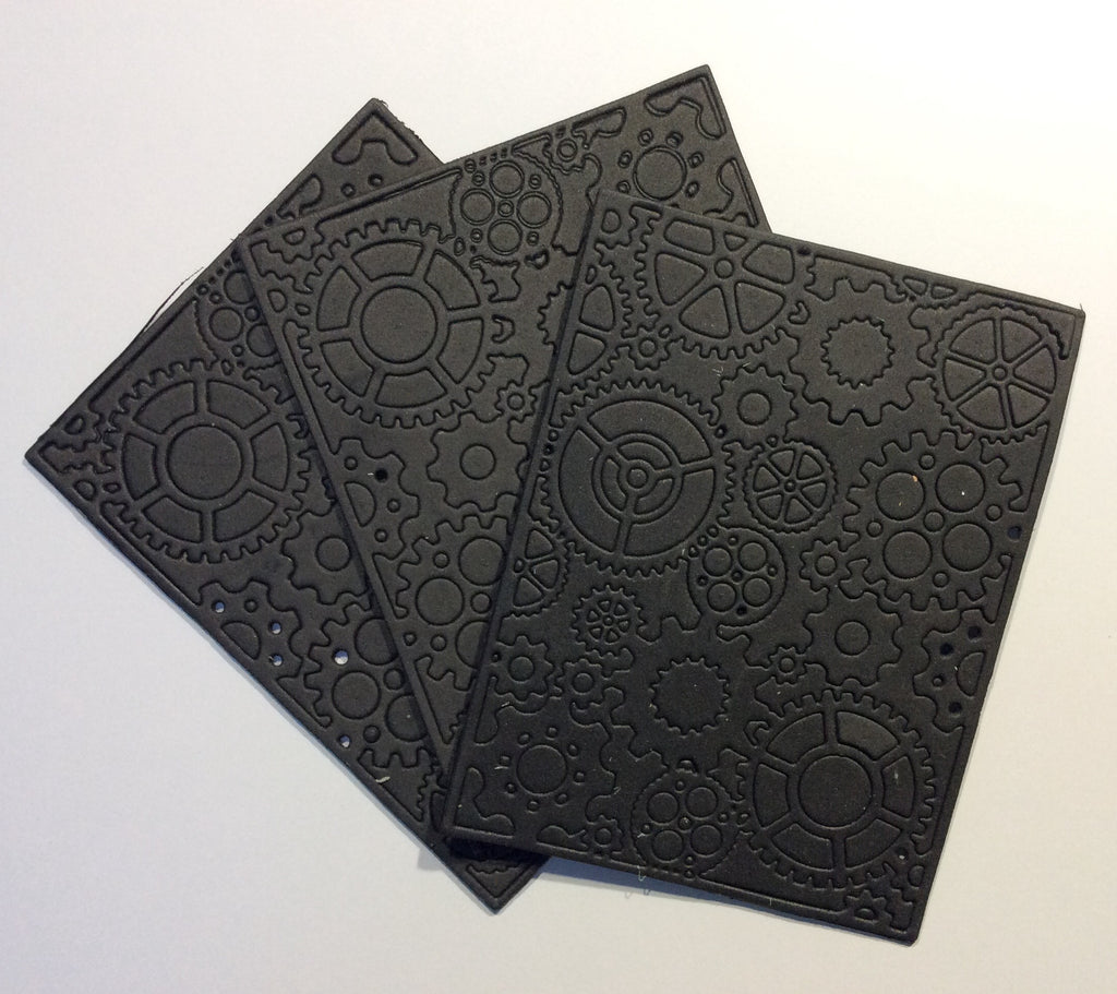 Black Foam Die Cut Cogs (3 pack)