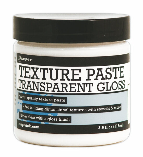 Ranger Texture Paste Transparent Gloss 4oz