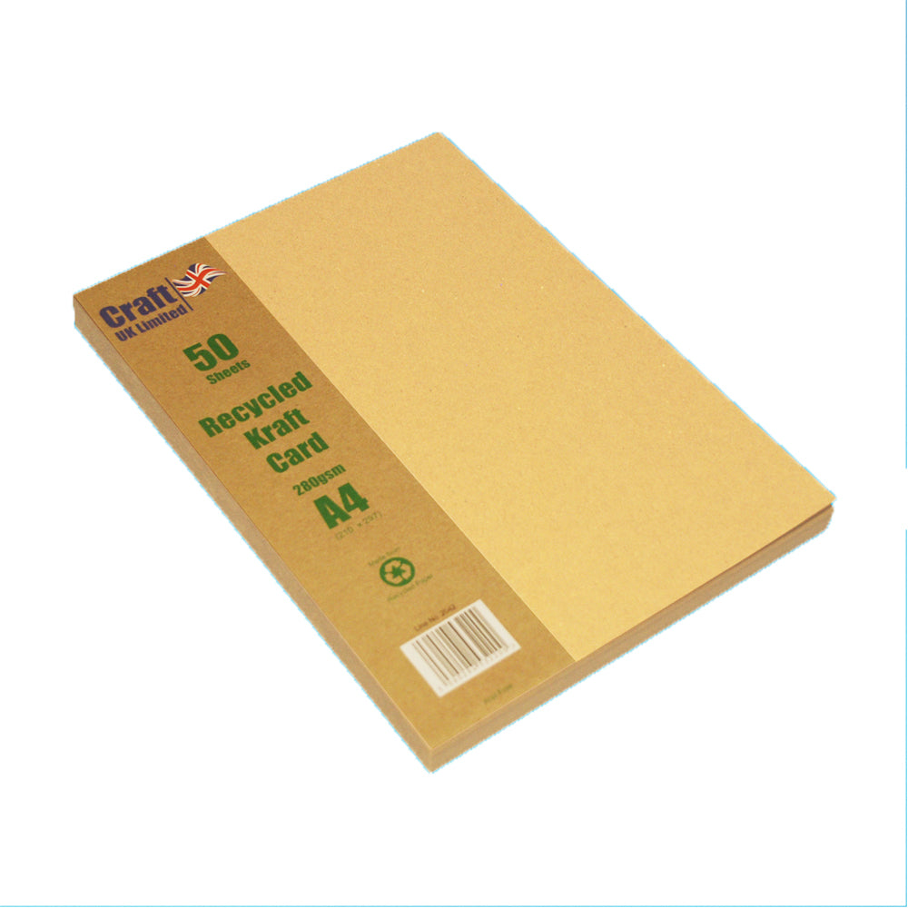 A4 Kraft Card 225gsm - Pack of 50