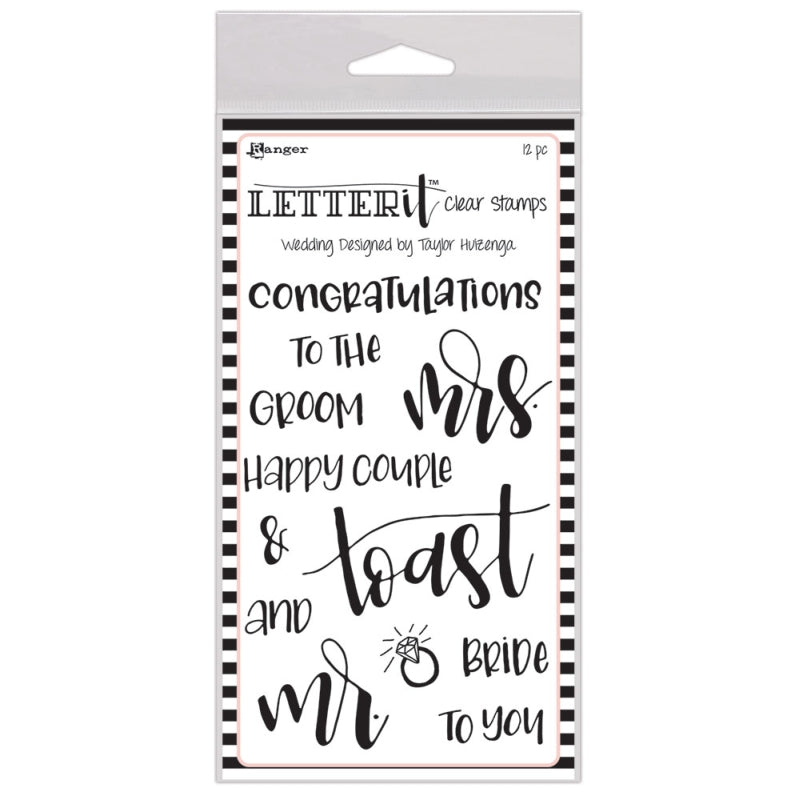 Ranger Letter It Stamp Set Wedding