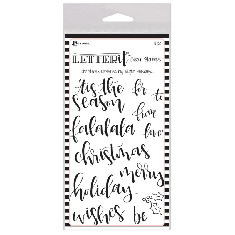 Ranger Letter It Stamp Set Christmas