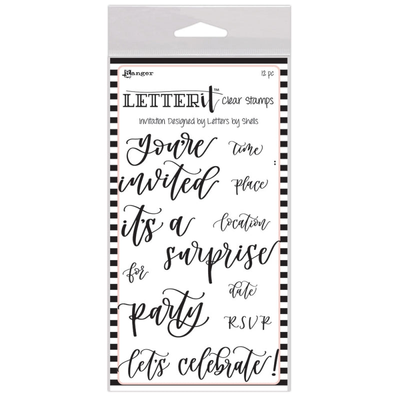 Ranger Letter It Stamp Set Invitation