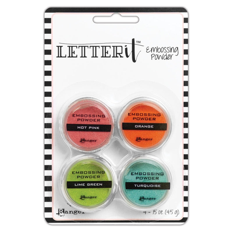 Ranger Letter It Stamping Embossing Powder 4 Piece Kit